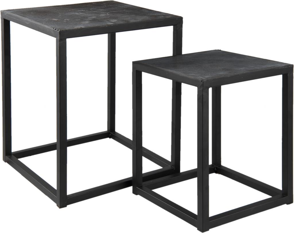 Beistelltisch 2er Set Schwarz Eisen Clayre Eef Kaufen